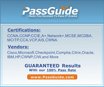PassGuide Make You Succeed To Pass IT Exams