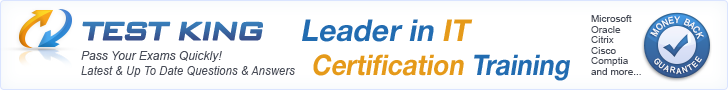 TestKing - Leader in IT Certification Training