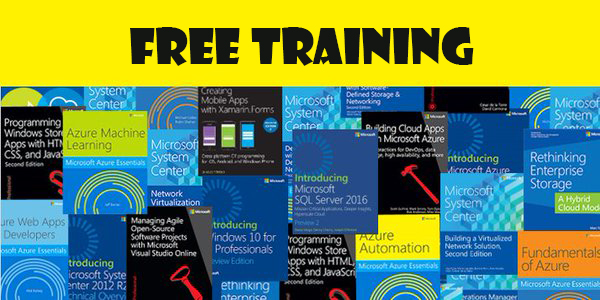 free training, ebooks, microsoft press, freebies, virtualization, special offer, cloud computing, microsoft azure, windows, it certification exams