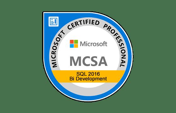 MCSA: SQL 2016 BI Development Exams