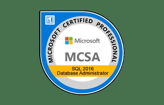MCSA: SQL 2016 Database Administration Exams