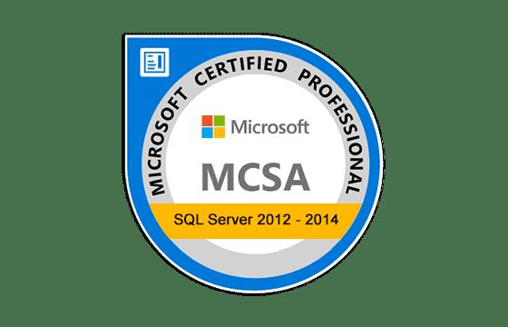 MCSA: SQL Server 2012/2014 Exams