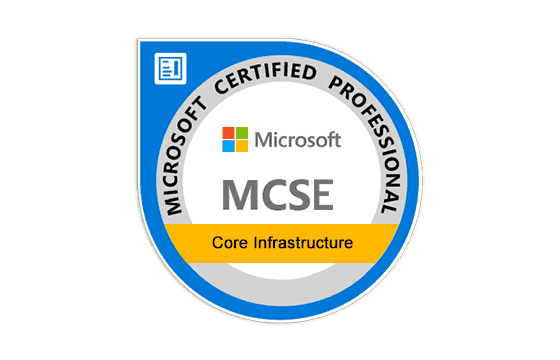 Microsoft Certified Solutions Expert Core Infrastructure Exams