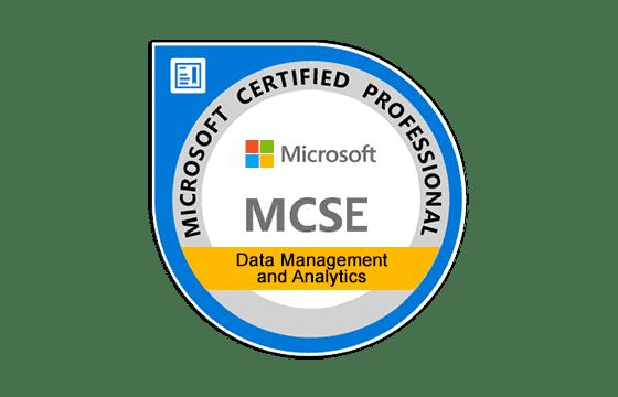 MCSE: Data Management and Analytics Exams