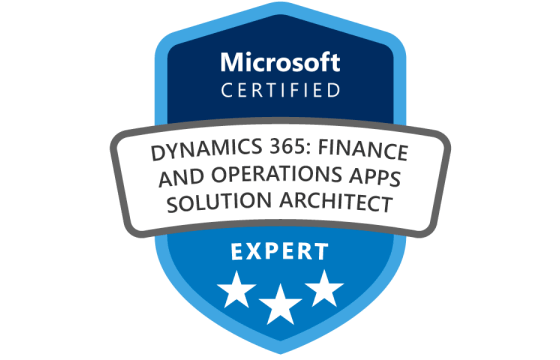 Microsoft Certified: Dynamics 365: Finance and Operations Apps Solution Architect Expert Exams