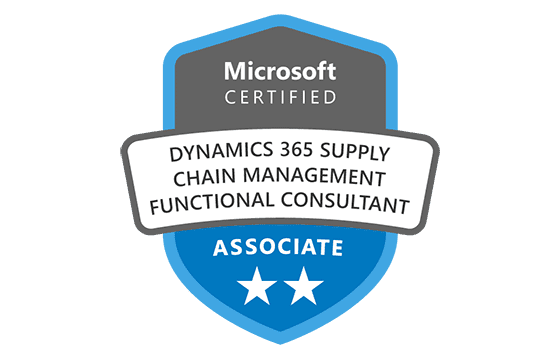Microsoft Certified: Dynamics 365 Supply Chain Management Manufacturing Functional Consultant Associate Exams