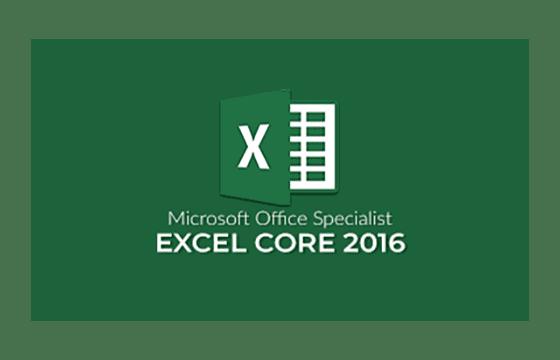 MOS: Excel 2016 Core Exams