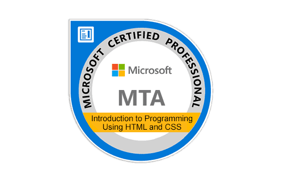 Microsoft Technology Associate Introduction to Programming Using HTML and CSS Exams