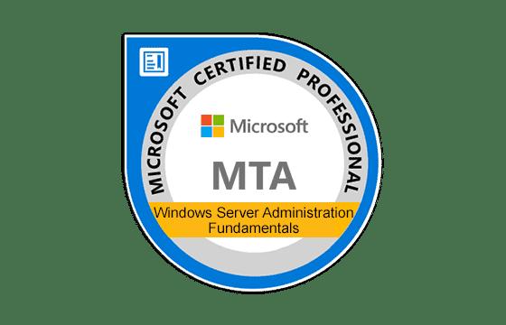 MTA: Windows Server Administration Fundamentals Exams