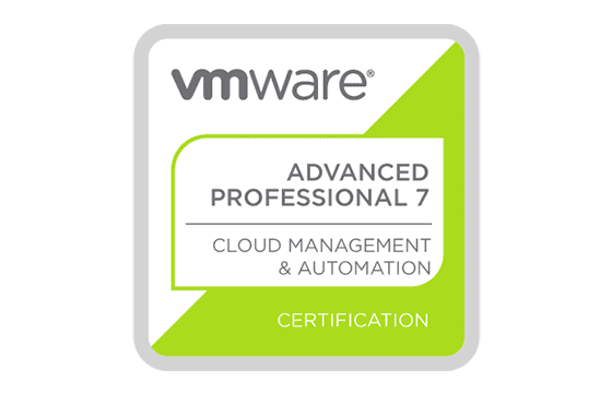 VMware Certified Professional 7 - Cloud Management and Automation Exams