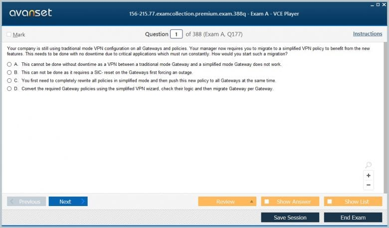 Checkpoint CCSA R77 30 Certification Exam Dumps, CCSA R77 30