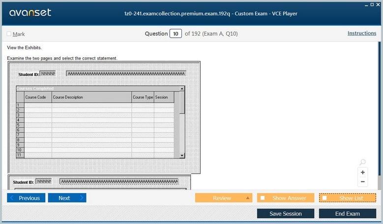 1z0-241 Premium VCE Screenshot #1