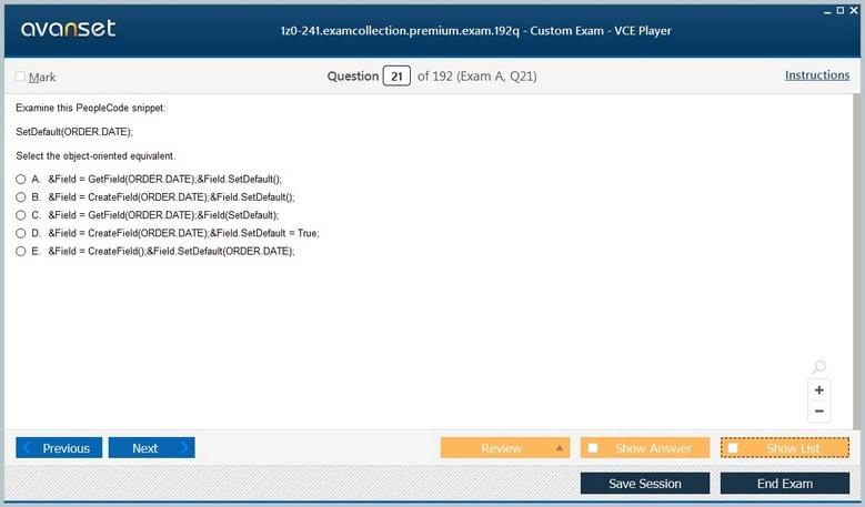 1z0-241 Premium VCE Screenshot #2