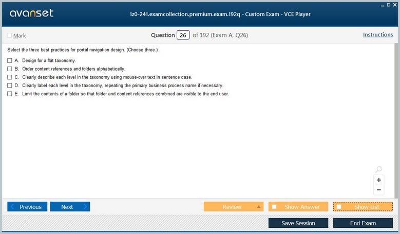 1z0-241 Premium VCE Screenshot #3
