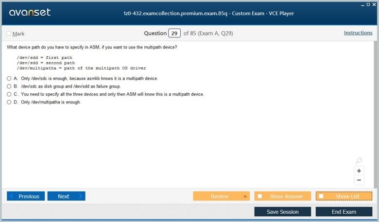 1z0-432 Premium VCE Screenshot #4