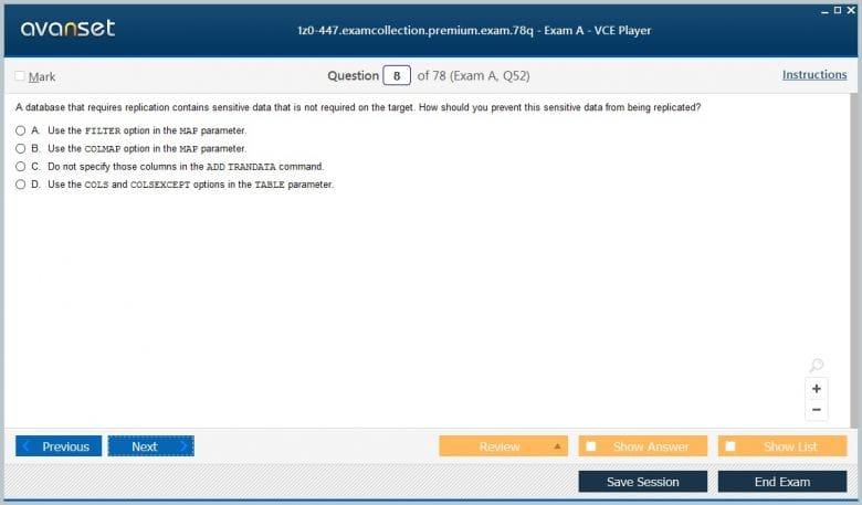 1z0-447 Premium VCE Screenshot #1