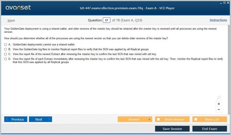 1z0-447 Premium VCE Screenshot #2