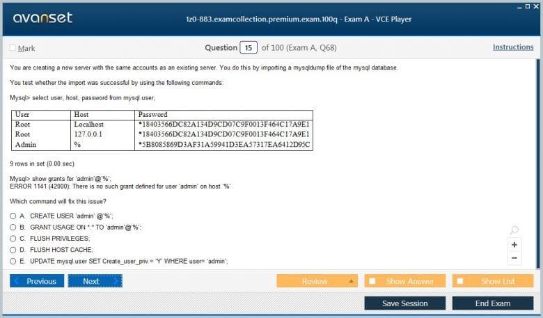 1z0-883 Premium VCE Screenshot #2