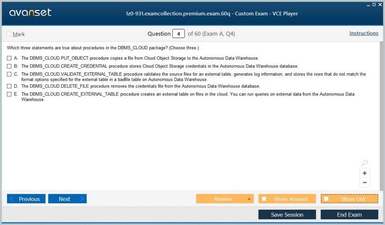 1z0-931 Premium VCE Screenshot #1