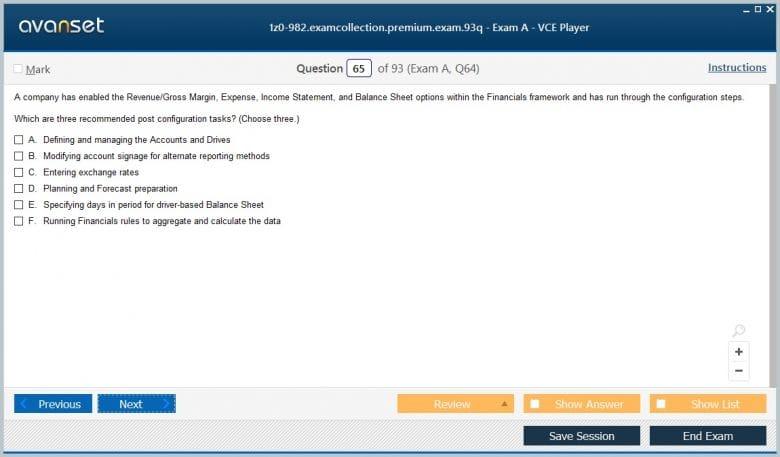 1z0-982 Premium VCE Screenshot #4