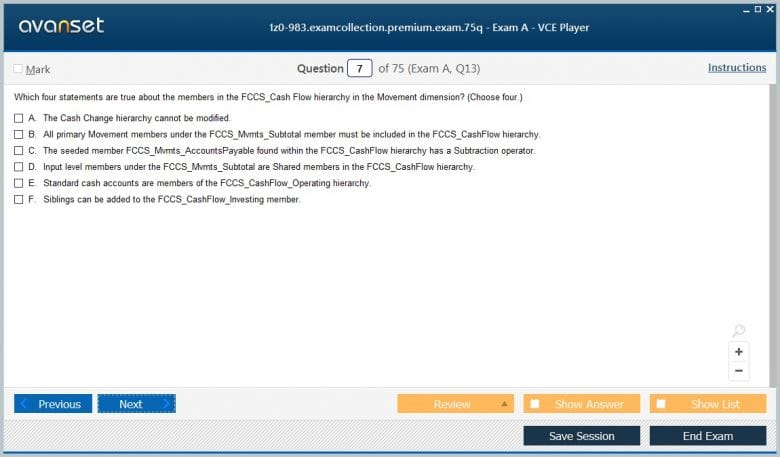 1z0-983 Premium VCE Screenshot #2