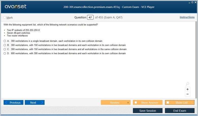 200-301 Premium VCE Screenshot #1