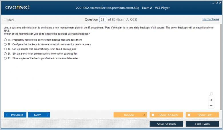 220-1002 Premium VCE Screenshot #4