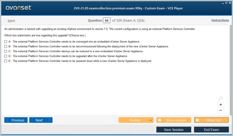 2V0-21.20 Premium VCE Screenshot #3