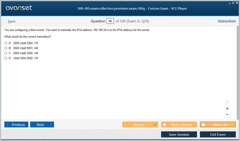 300-410 Premium VCE Screenshot #3