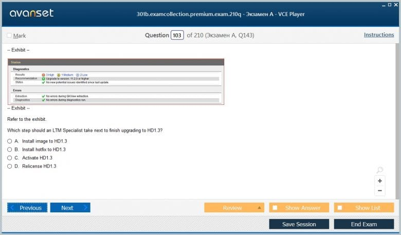 301b Premium VCE Screenshot #2
