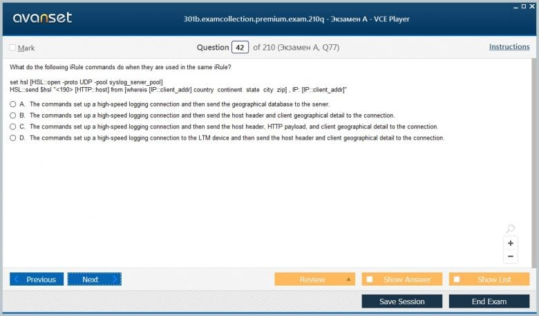 301b Premium VCE Screenshot #3