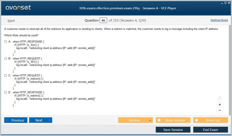301b Premium VCE Screenshot #4