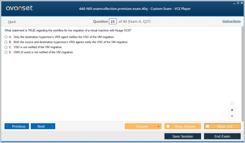 4A0-N01 Premium VCE Screenshot #3