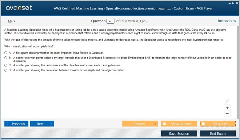 AWS Certified Machine Learning - Specialty Premium VCE Screenshot #4