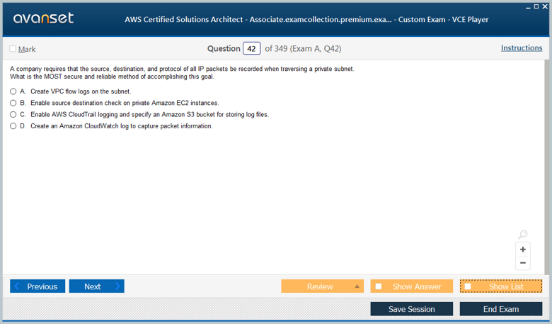AWS Certified Solutions Architect - Associate Premium VCE Screenshot #2
