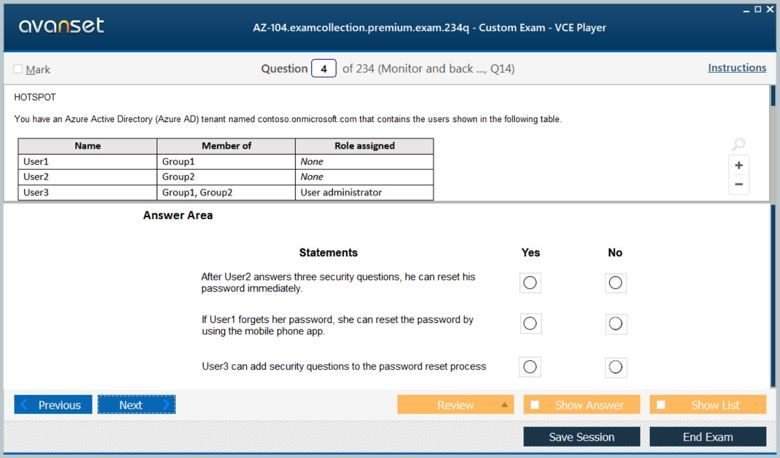 AZ-104 Premium VCE Screenshot #1