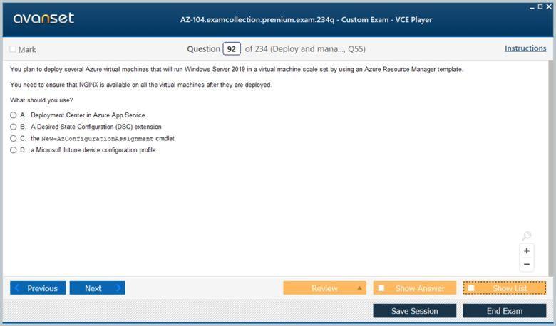 AZ-104 Premium VCE Screenshot #4