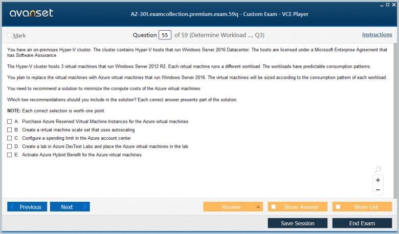 AZ-301 Premium VCE Screenshot #3