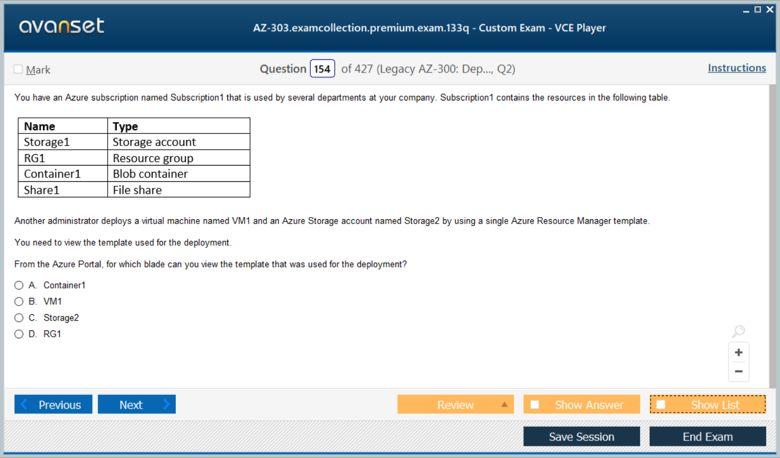 AZ-303 Premium VCE Screenshot #3