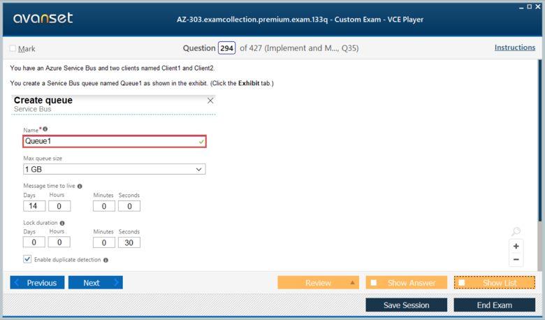 AZ-303 Premium VCE Screenshot #4
