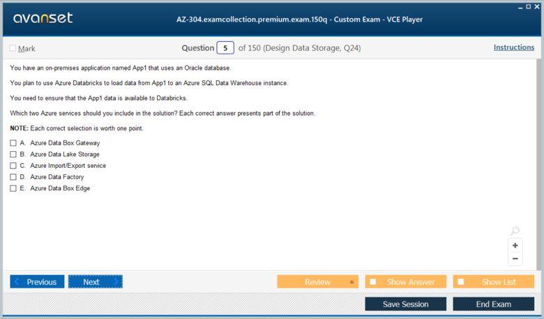 AZ-304 Premium VCE Screenshot #1