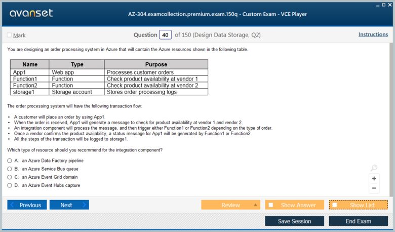 AZ-304 Premium VCE Screenshot #2