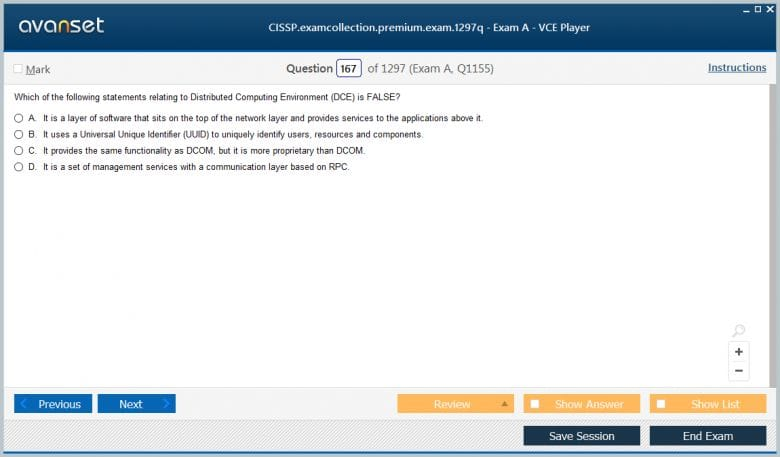 CISSP Premium VCE Screenshot #2