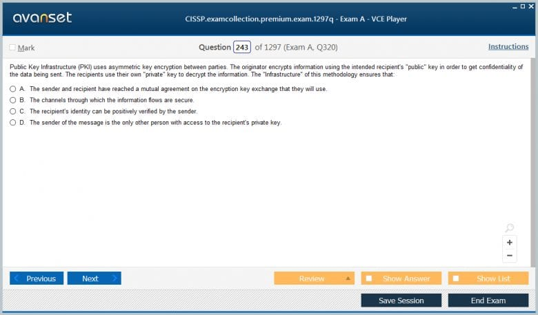 CISSP Premium VCE Screenshot #4