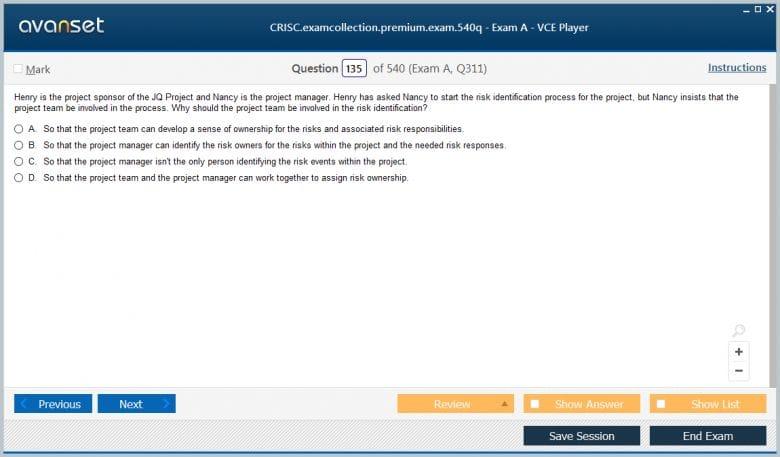 CRISC Premium VCE Screenshot #3