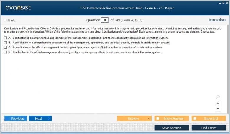 CSSLP Premium VCE Screenshot #1