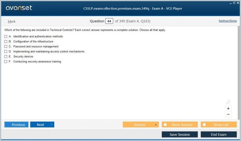 CSSLP Premium VCE Screenshot #2