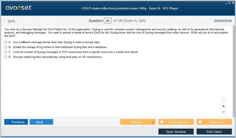CSSLP Premium VCE Screenshot #3