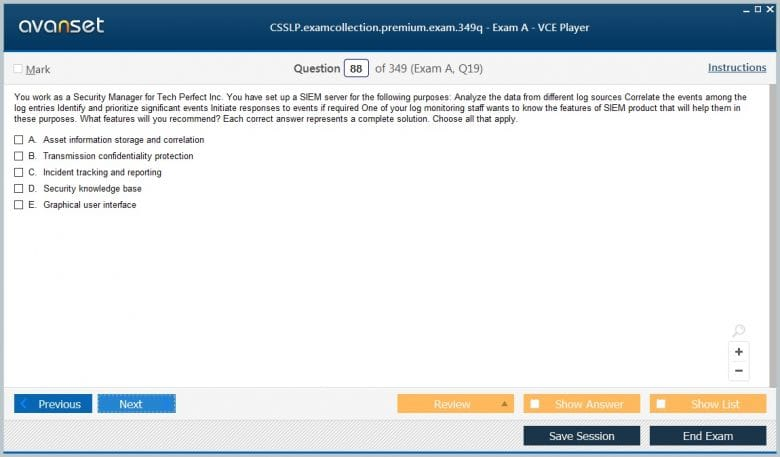 CSSLP Premium VCE Screenshot #4