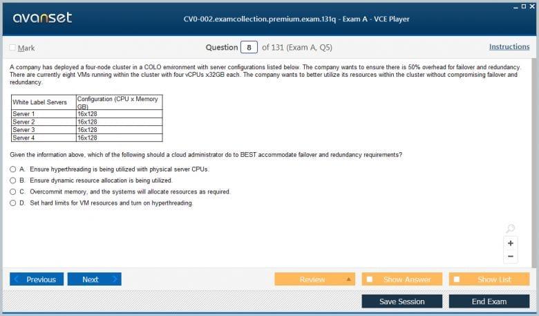 CV0-002 Premium VCE Screenshot #2